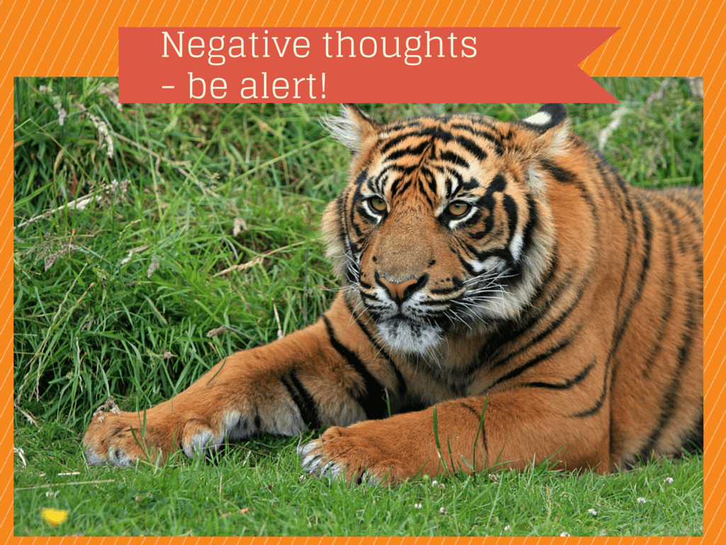 Place of Serenity | Negative thoughts - be alert