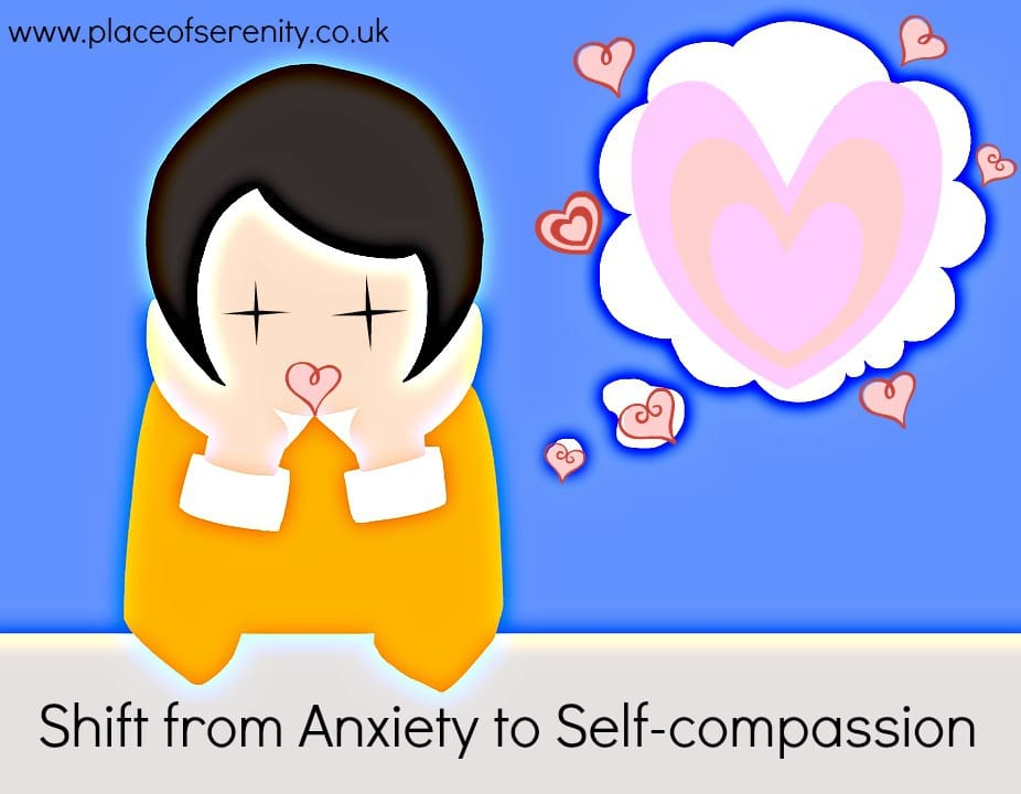 Shift from anxiety to self-compassion