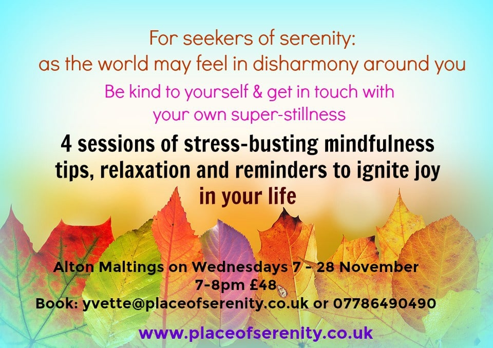 Place of Serenity | Be kind to yourself anxiety