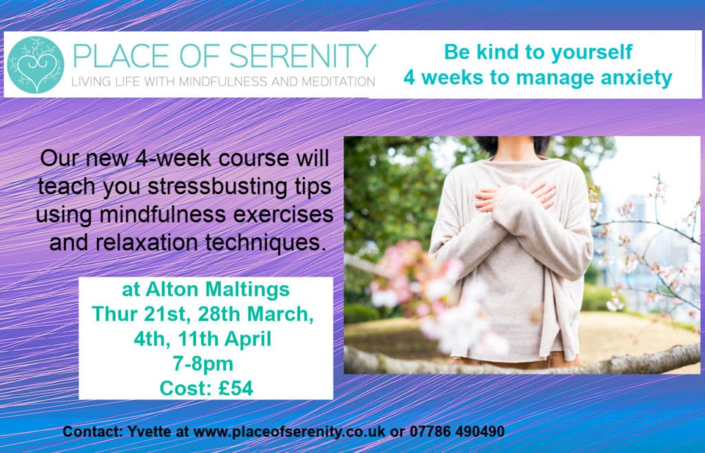Place of Serenity | Be Kind to Yourself 4 Week Course
