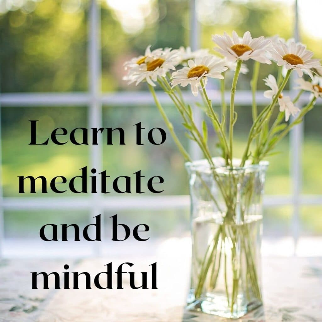 Learn to meditate and be mindful